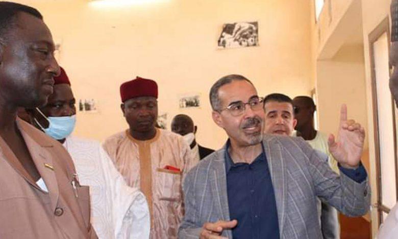 عبد الرزاق سبقاق مع نظيره من النيجر آداموا سيكو دورو